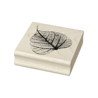 Dry Autumn Leaf Rubber Stamp