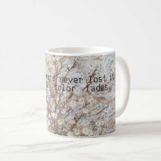 dry beautiful flower  rock coffee mug