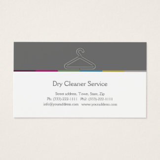 Dry Cleaner Service Business Card