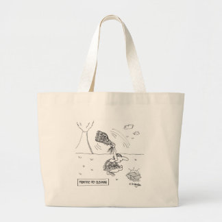 Dry Cleaning Cartoon 2892 Large Tote Bag