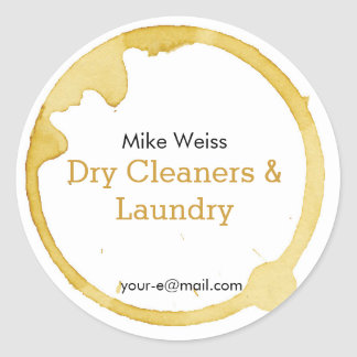 Dry Cleaning & Laundry coffee stain is not a crime Round Sticker