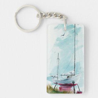 Dry Dock Boat Keychain