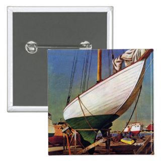 Dry Dock by John Atherton 2 Inch Square Button