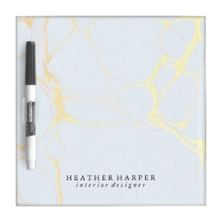 Dry Erase Board - Blue & Gold Marble