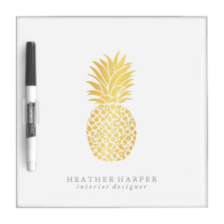 Dry Erase Board - Gold Pineapple