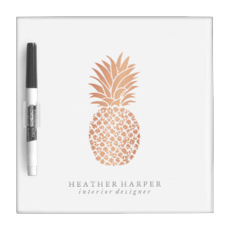 Dry Erase Board - Rose Gold Pineapple