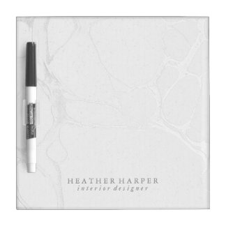 Dry Erase Board - Silver Marble