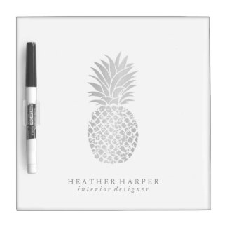 Dry Erase Board - Silver Pineapple