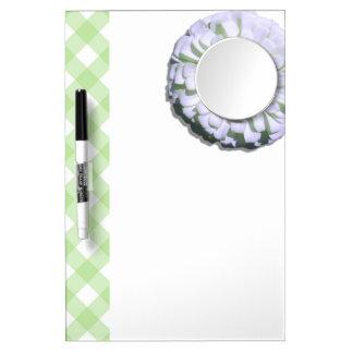 Dry-Erase Board w/Mirror - Lemony White Zinnia