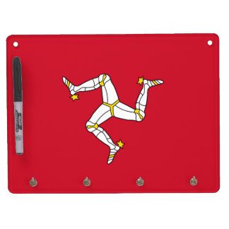 Dry Erase Board with Isle of Man Flag, UK