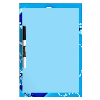 Dry Erase Board with Lovely Blue Design
