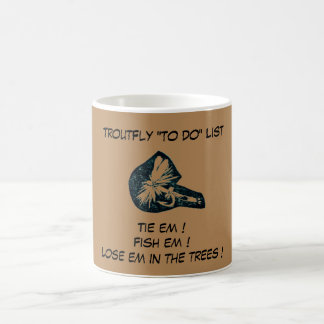 """Dry Fly Brown - Trout Fly ""To Do List"" Mug"