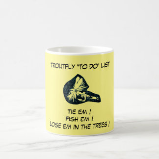 """Dry Fly Yellow - Trout Fly ""To Do List"" Mug"