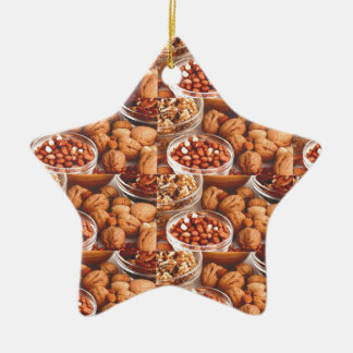 DRY FRUITS daily diet health cuisine experts chefs Ceramic Star Ornament