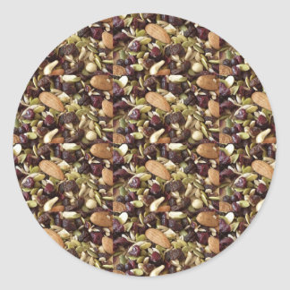 DRY FRUITS daily diet health cuisine experts chefs Round Sticker