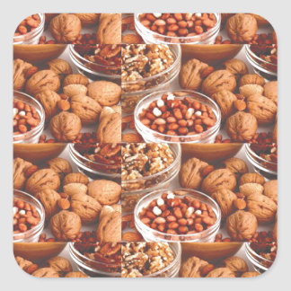 DRY FRUITS daily diet health cuisine experts chefs Square Sticker