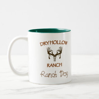 Dry Hollow Ranch - Ranch Dog Two-Tone Coffee Mug