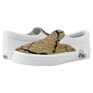 Dry land with cracked earth in drought Slip-On sneakers