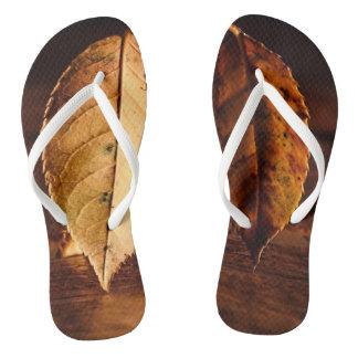 Dry Leaf Flip Flops
