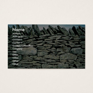 Dry stone wall business card