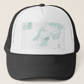 Dry Tortugas Nautical Harbor Chart Hat