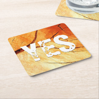 Dry Wood Is Necessary Square Paper Coaster