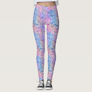 Dryad: Eggplant, Bouquet, Lily and Lilac Leggings