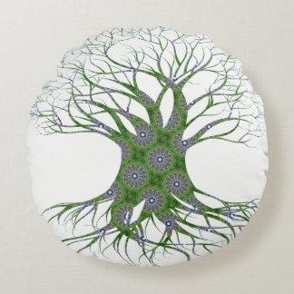 Dryad Tree (green) Round Pillow