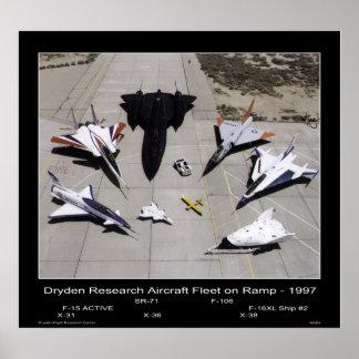 Dryden Research Aircraft Fleet on the Ramp - 1997 Poster
