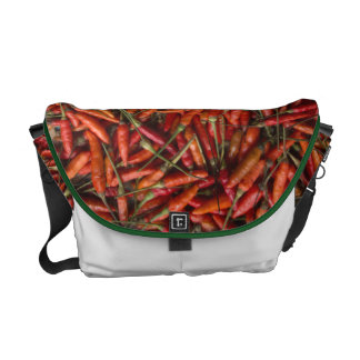 Drying Red Hot Chili Peppers Commuter Bag