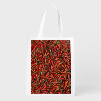 Drying Red Hot Chili Peppers Grocery Bags