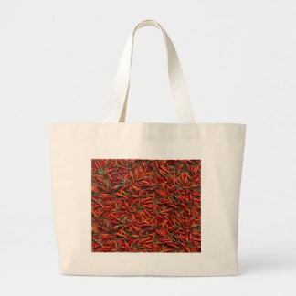 Drying Red Hot Chili Peppers Jumbo Tote Bag