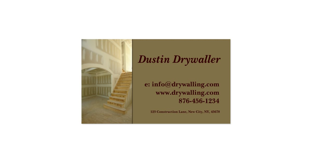 Drywall Business Card Zazzle