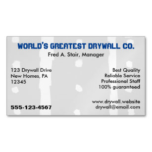 Drywall Business Cards Profile Cards Zazzle Ca