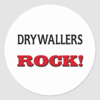 Drywallers Rock Round Sticker