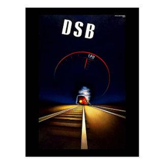 DSB Danske Statsbaner Danish State Railways Train Postcard