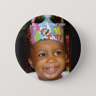 DSC02552-CIRCLE, Destiny's First Birthday 2 Inch Round Button