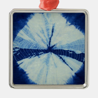 DSC03486.JPG round indigo circle art Metal Ornament