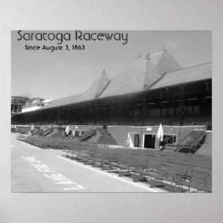 DSCF7656bw, Saratoga Raceway, Since August 3, 1863 Poster