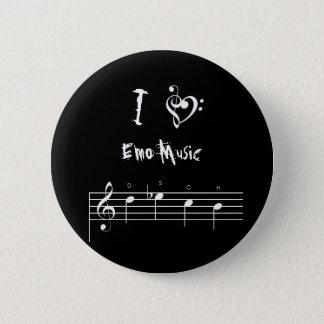 dsch, treblebassheart, I, Emo Music 2 Inch Round Button