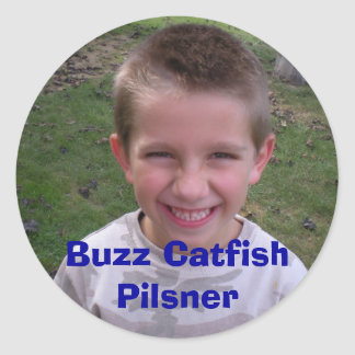 DSCN0164, Buzz Catfish Pilsner Classic Round Sticker