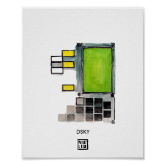 DSKY Apollo Guidance Computer Poster