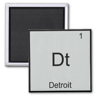 Dt - Detroit City Chemistry Element Symbol T-Shirt Square Magnet