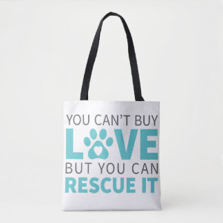 DTDR Can't Buy Love Tote Bag White