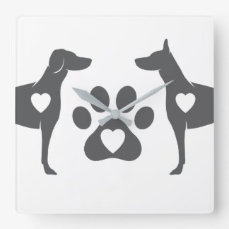 DTDR Doberman Wall Clock White