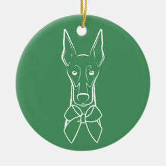 DTDR Holiday Ornament - Cropped Doberman