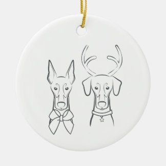 DTDR Holiday Ornament - Cropped & Natural Doberman