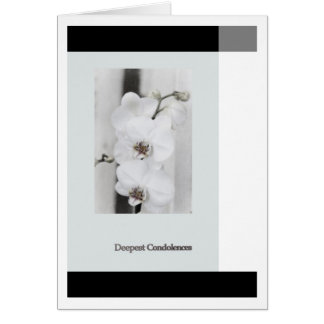 DTE plague Condolences Card