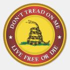 DTOM -Live Free Or Die Classic Round Sticker