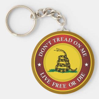 DTOM -Live Free Or Die Keychain